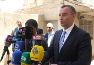 Briefing the media after my meeting with Grand Ayatollah Ali al-Sistani in Najjaf