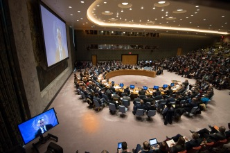 Security Council meeting on the Middle East, including the Palestinian question.
